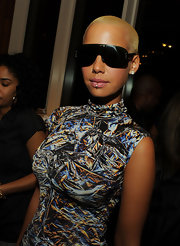 Amber Rose showed off her hoop lip ring while attending the screening of 'Good Hair'.