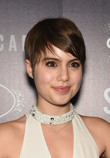 Sami Gayle attended the premiere of 'Song One' wearing emo bangs.