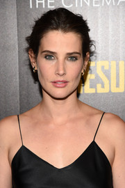 Cobie Smulders wore a simple, messy updo to the screening of 'Results.'