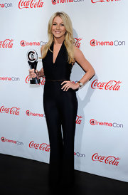 Julianne is jumpin' in a sleek black jumpsuit at the CinemaCon Awards.