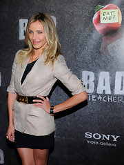 Cameron donned an ecru linen blazer to the 'Bad Teacher' premiere in Las Vegas.