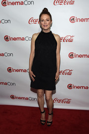 Julianne Moore graced the CinemaCon Big Screen Achievement Awards red carpet looking retro in her Saint Laurent LBD.