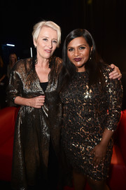 Mindy Kaling sparkled in a leopard-sequined cocktail dress at the screening of 'Late Night' during CinemaCon 2019.