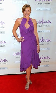 LuAnn opted for a feminine ruffled frock to attend the opening night of Cirque Du Soleil 'Zarkana' in NYC.
