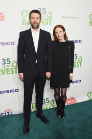 Julianne Moore kept it low-key in a long-sleeve LBD by Givenchy at City Harvest's 35th anniversary gala.