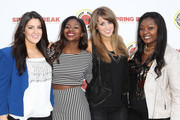 (L-R) Kree Harrison, Amber Holcomb, Angie Miller and Candice Glover attend the City Year Los Angeles' Spring Break: Destination Education at Sony Pictures Studios on April 20, 2013 in Culver City, California.
