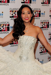 MyLeene showed off her long side swept curls while hitting the BRIT Awards in London, England.