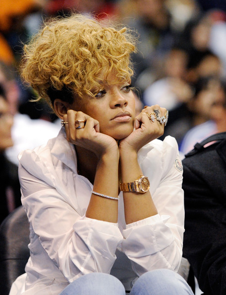 More Pics of Rihanna Lettering Tattoo (1 of 8) - Rihanna Lookbook - StyleBistro