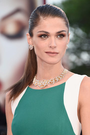 Elisa Sednaoui slicked her hair back into a tight ponytail for the Venice Film Festival closing ceremony.