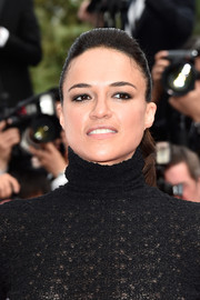 Michelle Rodriguez kept it fuss-free with this ponytail at the Cannes closing ceremony.