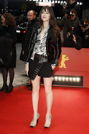 Walking the red carpet at the Berlinale International Film Festival, Charlotte Gainsbourg anchored her statement separates with a pair of striking strappy heels.