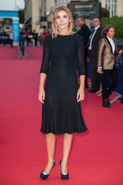Clotilde Courau Platform Pumps [red carpet,clothing,dress,carpet,premiere,little black dress,flooring,cocktail dress,footwear,hairstyle,deauville,france,deauville american film festival,killer joe premiere,killer joe premiere,clotilde courau]