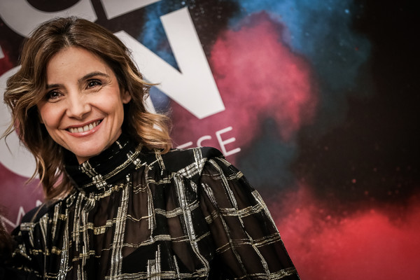 Clotilde Courau Medium Wavy Cut [image,face,facial expression,beauty,lady,smile,fashion,fun,human,blond,photography,filter,clotilde courau,movie film festival - reportage,france,odeon,french,italy,florence,france odeon festival]