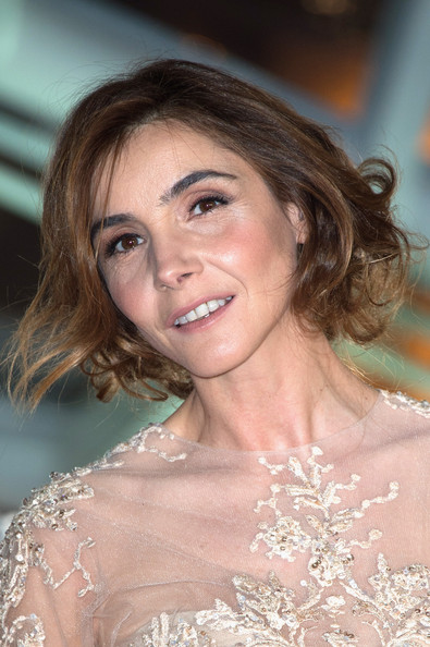 Clotilde Courau Messy Updo [hair,face,eyebrow,hairstyle,beauty,skin,chin,lip,shoulder,smile,marrakech,morocco,marrakech international film festival - opening ceremony,ceremony,marrakesh international film festival,clotilde courau]