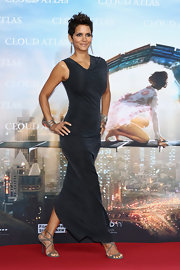 Halle Berry wowed at the 'Cloud Atlas' Germany Premiere in a pair of elegant strappy sandals.