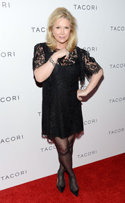 Kathy Hilton chose a lacy little black dress for a ladylike look during the Club Tacori event.