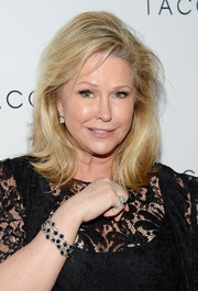 Kathy Hilton sported a shaggy layered cut when she attended the Club Tacori event.