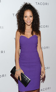 Sherri Saum's black chainmail clutch provided a super-elegant finish to her look during the Club Tacori event.