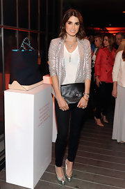 Nikki Reed sparkled at Coach's CDF event when she sported this sequin jacket, featuring a cool chevron design.