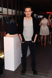 Kevin Zegers chose these black jeans for a slightly casual look at Coach's Evening of Cocktails and Shopping.