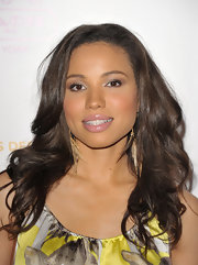 Jurnee Smollett styled her hair in soft curls for the Children's Defense Fund event.