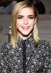 Kiernan Shipka topped off her look with a shoulder-length straight cut when she attended the Coach fashion show.
