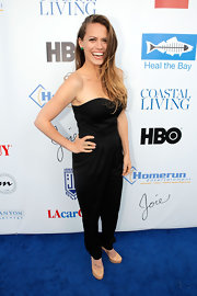 Bethany Joy Lenz-Galeotti rocked a strapless black jumpsuit at the 'Coastal Living' celebration in Santa Monica.