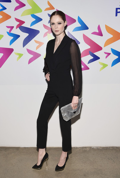 Coco Rocha Metallic Clutch