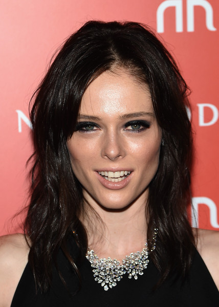 Coco Rocha Medium Wavy Cut with Bangs