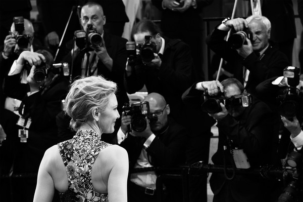 More Pics of Cate Blanchett Butterfly Ring (4 of 85) - Decorative Rings Lookbook - StyleBistro [image,photograph,musician,black-and-white,music,musical ensemble,monochrome,monochrome photography,performance,event,photography,red carpet arrivals,cate blanchett,jury,screening,cannes,zimna wojna,cold war,cannes film festival,palais des festivals]