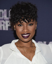 Jennifer Hudson attended the 'Color Purple' Broadway cast photocall rocking side-shaved curls.