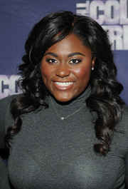 Danielle Brooks looked sweet with her long bouncy curls at the 'Color Purple' listening party.
