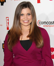 Danielle Fishel wore her locks straight with a subtle side part.