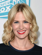 January Jones sealed off her look with a sexy red lip.