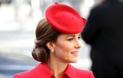 Kate Middleton sported a perfectly styled chignon while attending Commonwealth Day service.