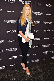 Ireland Baldwin kept her evening look cool and casual by choosing this navy blazer to pair with a classic button down.
