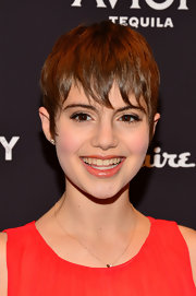 Sami Gayle's choppy pixie cut really enhances her delicate feminine features.