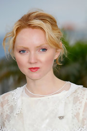 Lily Cole accentuated her lips with a sweet berry color when she attended the 'Confession of a Child' photocall.