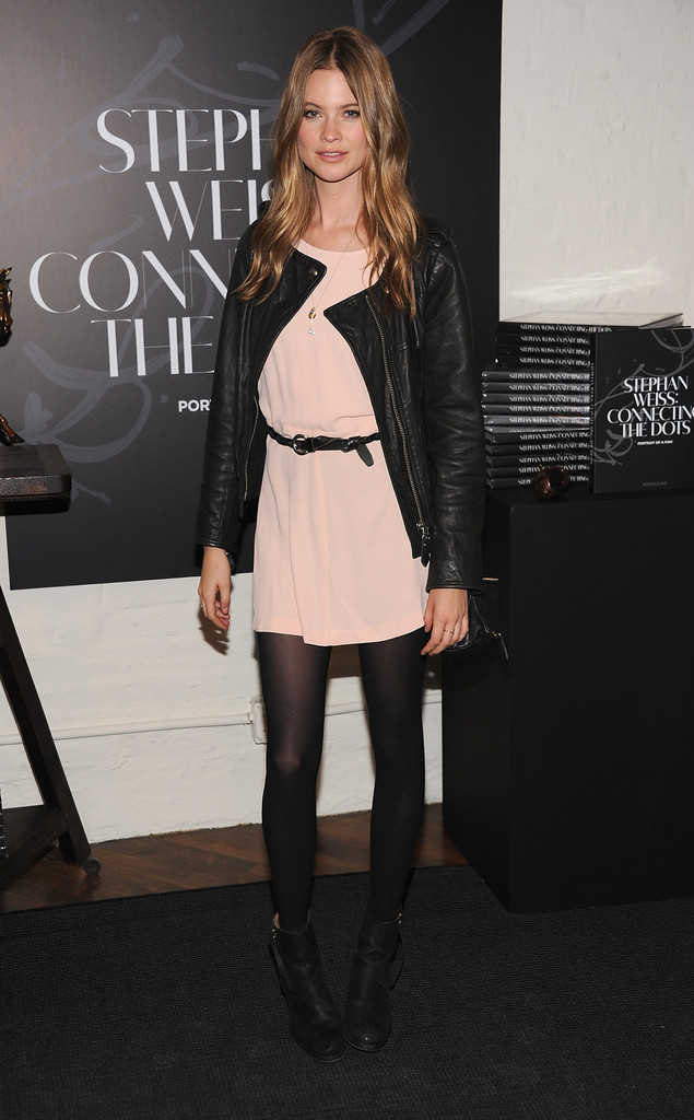 "Behati Prinsloo attends ""Connecting The Dots"" Book Launch & Exhibition Opening at Donna Karan&squot;s Urban Zen Center at the Stephen Weiss Studio on October 17, 2012 in New York City."