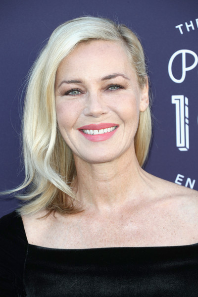 Connie Nielsen Mid-Length Bob [the hollywood reporter,hair,eyebrow,blond,beauty,human hair color,chin,hairstyle,forehead,cheek,smile,arrivals,women in entertainment breakfast,connie nielsen,california,los angeles,hollywood reporter,milk studios,women un entertainment breakfast]