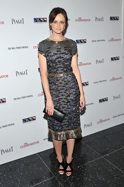 Alexis positively sparkles in a sequined cap sleeve dress at the NYC premiere of 'The Conspirator.'