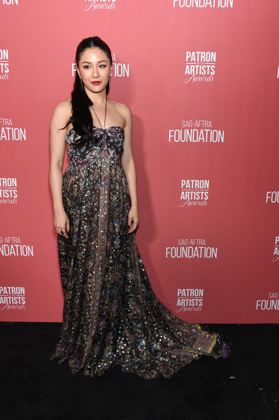 Constance Wu Halter Dress