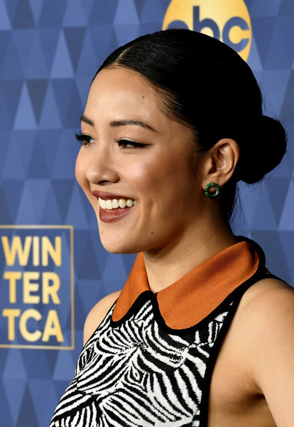 Constance Wu Costume Hoops [winter press tour 2020 - arrivals,hair,hairstyle,eyebrow,beauty,forehead,smile,black hair,croydon facelift,ear,style,constance wu,pasadena,california,the langham huntington,abc television,winter press tour 2020,constance wu,celebrity,image,television,photograph,entertainment,television critics association,hawtcelebs,2020,livingly media]