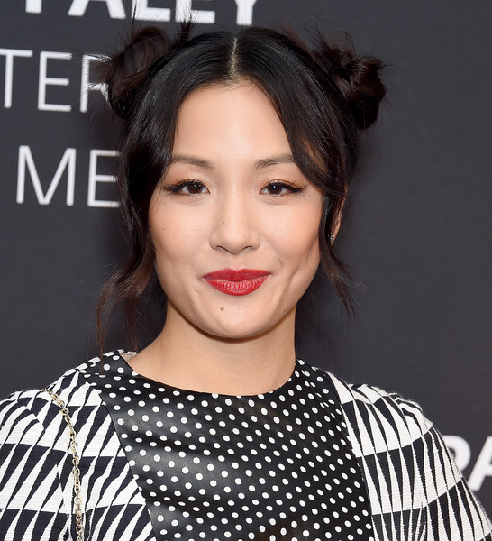 Constance Wu Red Lipstick [fresh off the boat,the paley center presents an evening with,hair,face,lip,hairstyle,eyebrow,beauty,black hair,chin,fashion,forehead,constance wu,beverly hills,california,the paley center for media,paley center presents an evening with]