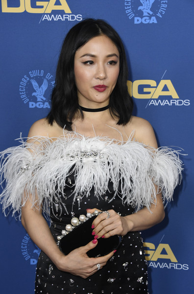 Constance Wu Pink Nail Polish [eyelash,singer,black hair,premiere,performance,arrivals,constance wu,directors guild of america awards,hollywood highland center,the ray dolby ballroom,california]