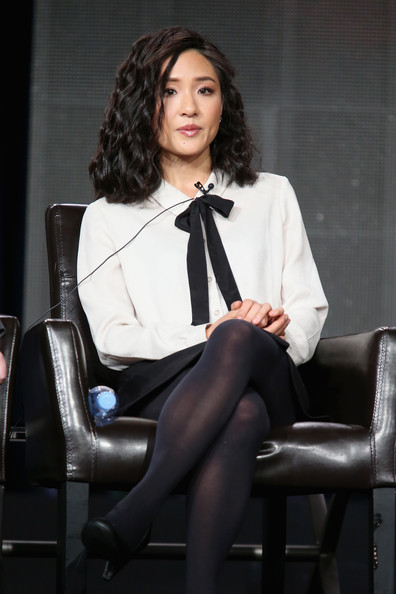 Constance Wu Pussybow Blouse