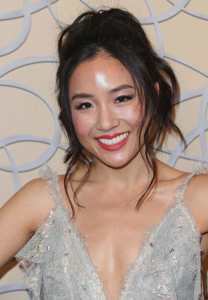 Constance Wu Messy Updo