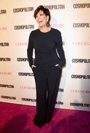 Kris Jenner kept it simple and conservative in a long-sleeve black jumpsuit during Cosmopolitan's 50th birthday celebration.
