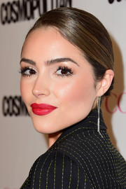 That bright red pout totally dominated Olivia Culpo's beauty look.