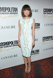 Rose Byrne wore this uniquely embellished dress to the Cosmo party.
